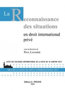la reconnaissance des situations en droit international prive
