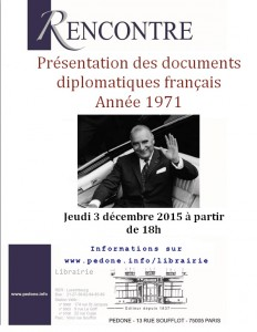 Affiche documents diplomatiques